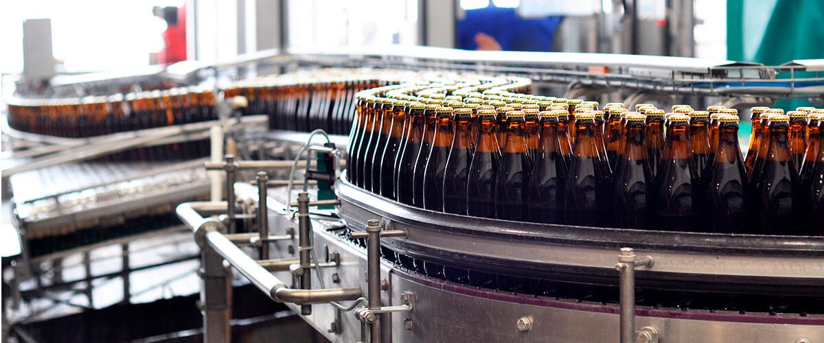 Esteira transportadora de garrafas para produção